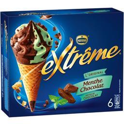 L'Original - Cônes menthe chocolat pépites de chocol...