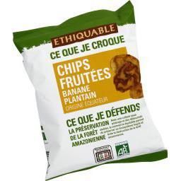 Chips fruitées banane plantain BIO