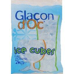 Glaçons Ice cubes, eau potable