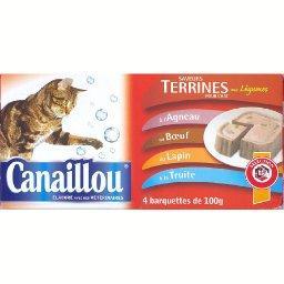 Saveurs terrines aux légumes pour chat, agneau, boeu...
