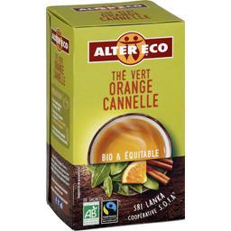 Thé vert orange cannelle BIO