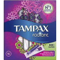 Tampax radiant super tampons avec applicateur16