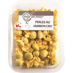 Perles au jambon cru