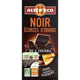 Chocolat noir écorces d'oranges BIO & équitable