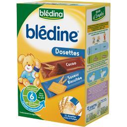 Blédine - Dosettes de céréales cacao ou saveur biscu...