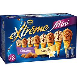 Mini glaces caramel/vanille