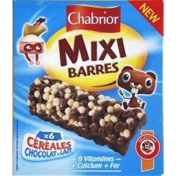 Barres Mixi céréales & chocolat au lait
