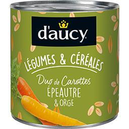 D'aucy Légumes & Céréales - Duo de carottes épeautre & orge