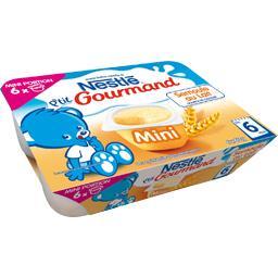 P'tit Gourmand - Mini dessert semoule au lait, 6+ mois