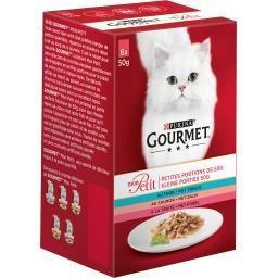 Gourmet Mon Petit - Aliment pour chats adultes, poissons