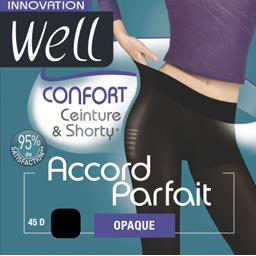 Accord Parfait - Collant opaque confort noir T4