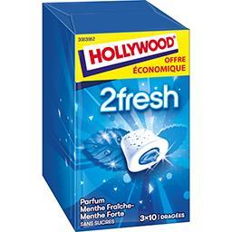 Hollywood Chewing-gum 2Fresh menthe fraîche/menthe forte sans ...
