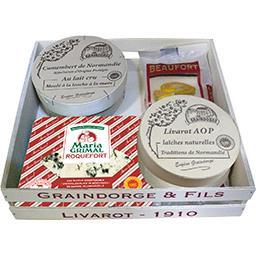 Caissette découverte assortiment de fromages