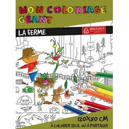 Coloriage géant La Ferme 80x120 cm