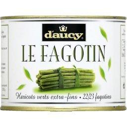 Le fagotin, haricots verts extra-fins cueillis mains et rangés en fagots, 22/23 fagotins