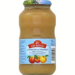 Compote de pommes allégée en sucres