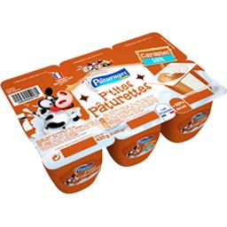 Pâturages Dessert P'tites Pâturettes caramel lait les 6 pots de 70 g