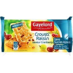 Crousti' raisin saveur cranberry