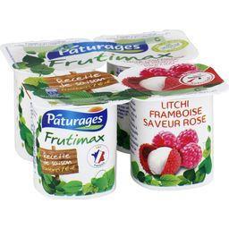 Pâturages Frutimax - Yaourt brassé litchi framboise saveur ros... les 4 pots de 125 g