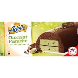 Adélie Bûche glacée chocolat pistache la bûche de 1000 ml