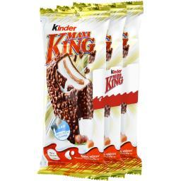 Kinder Fine gaufrette Maxi King chocolat lait noisette et c...