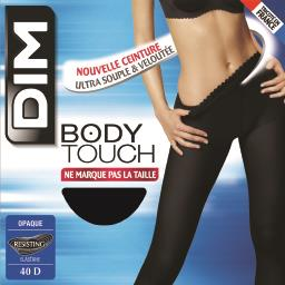 Body touch - collant opaque noir taille 4