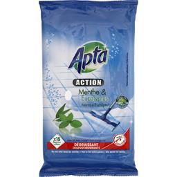 Action - Lingettes nettoyantes pour sols menthe & eu...