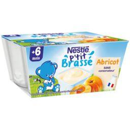 P'tit Brassé - Dessert abricot, 6+ mois