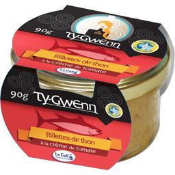 Rillettes de thon à la crème de tomate