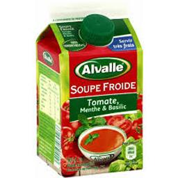 Soupe froide tomate menthe & basilic