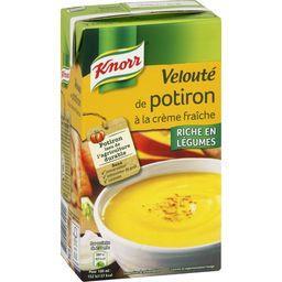 Soupe velouté de potiron à la crème fraîche