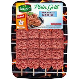 Plein Grill - Brochettes bœuf haché nature