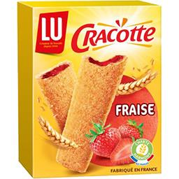Cracotte - Bâtonnets de céréales fourrés à la fraise
