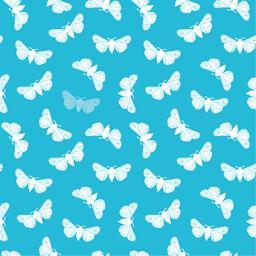 Serviettes 3 plis 40x40 cm Butterfly turquoise