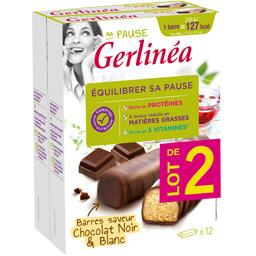 Gerlinéa Ma Pause - Barres saveur chocolat noir & blanc