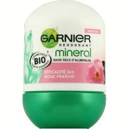 Mineral - Déodorant BIO 24h, rose fraîche, sans sels d'aluminium