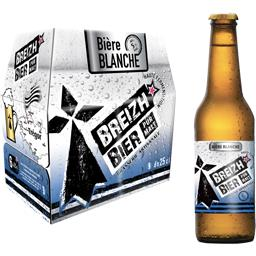 Breizh Bière blanche les 6 bouteilles de 25 cl