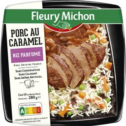 Porc au caramel riz parfumé
