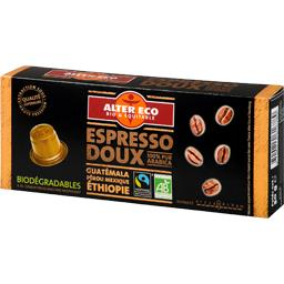Capsules de café moulu Espresso doux BIO