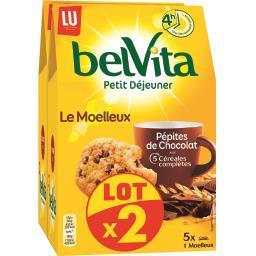 Belvita Petit Déjeuner - Biscuits Le Moelleux chocolat