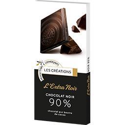 Les Créations Ivoria L'Extra Noir chocolat noir 90% la tablette de 100 g