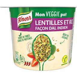 Mon Veggie pot lentilles et riz façon Dal indien