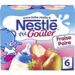 P'tit Goûter - Boisson lactée fraise poire, 6+ mois