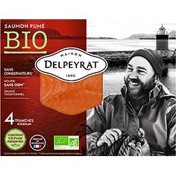 saumon fumé bio 4 tranches delpeyrat 120g