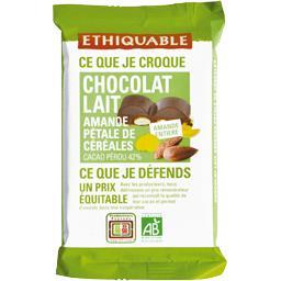 Chocolat au lait 42% amande pétale de céréales BIO