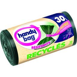 Sacs poubelle Résistants Recyclés 30 l