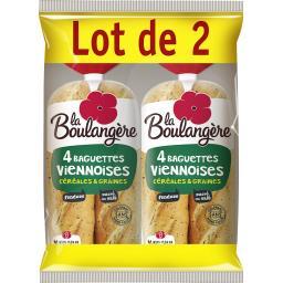 Baguettes viennoises céréales et graines