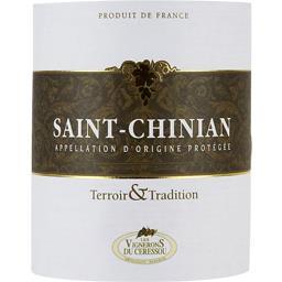 Saint chinian traditionnel, vin rouge