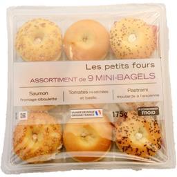 Assortiment de 9 mini-Bagels
