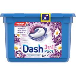 Dash 3en1 - pods - lavande et camomille - lessive en caps...